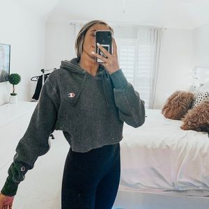 Champion cropped hoodie